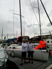 Al Doughty and Ian Cheke prior to the Fastnet race