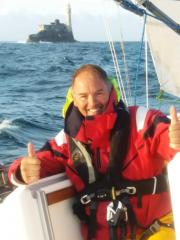 Ian Cheke at the Fastnet Rock
