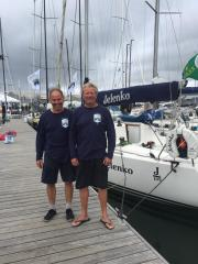 Al Doughty and Ian Cheke - the morning after the Fastnet Race