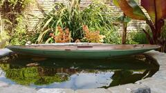 Test float in neighbour's pond