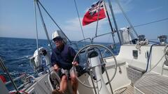 Michael concentrates on Crystella's balanced helm