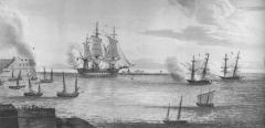 Anglo-French relations were less cordial at the time the frigate Minerve ran aground on the new breakwater!
