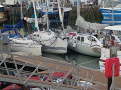 Someone's not going to be first out of the marina...