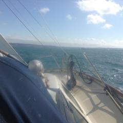 Some real sailing at last - approaching the passe de l'Est