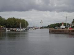 To the left of this view of the outer basin at Honfleur is the original river bank; everything to the right was reclaimed to create the basin and lock