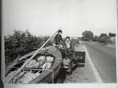 Where are these youthful and intrepid sailors bound? Weymouth , of course..