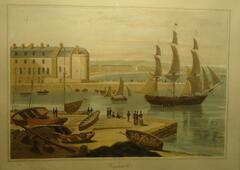 View over Weymouth harbour by William Daniell RA 1823