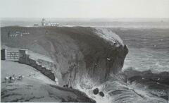 Daniell's view of Portland Bill with the flood running and a ship outside the Shambles heading east