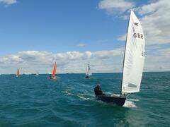 Terry Curtis won the trophy with some very consistent sailing over the three races.
