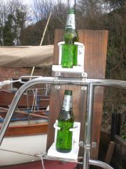 Samphire Winter Refit, probably the best cup holders in the World!