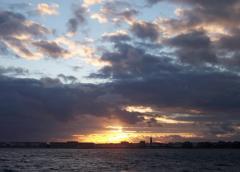 Sunset after racing