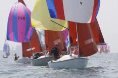 Light airs action at the 2009 Squib Nationals at WSC