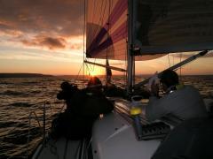 sunset during Fastnet